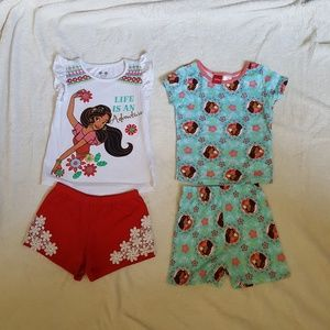 Girls Elena outfit and PJs lot.